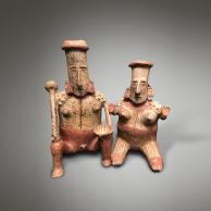 Sculpture SHAMAN COUPLE de la Galerie Mermoz