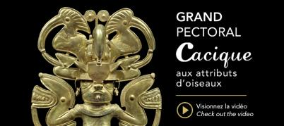 Large Cacique Pectoral with attributes of a bird by Galerie Mermoz