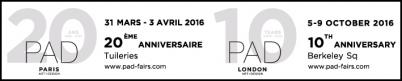 PAD PARIS 2016 - 20th Pavillon of Art and Design by Galerie Mermoz